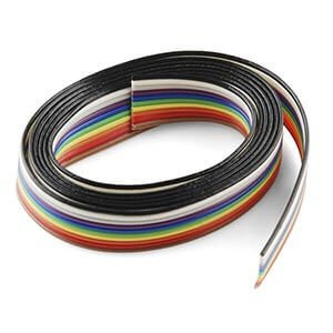 10-core-color-flat-ribbon-wire-Rainbow-cable